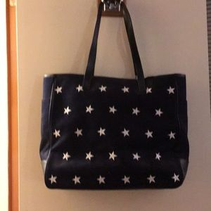Navy tote with white stars.